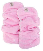 2 Pack Pink Cloth Diaper Liners for Girls