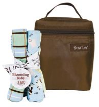 Baby Barnyard Bottle Bag & Burp Cloth Set