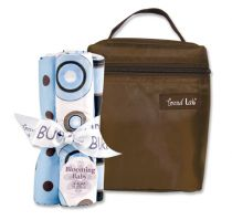 Blueberry Bottle Bag & Burp Cloth Set