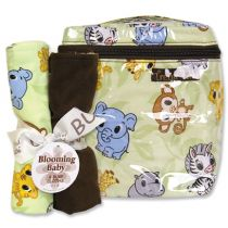 Chibi Zoo Bottle Bag & Burp Cloth Set