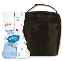 Dr. Seuss One fish, two fish Bottle Bag & Burp Cloth Set