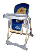 Adjustable High Chair Blue