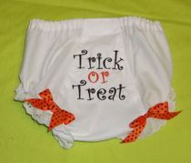 "Baby's ""Trick or Treat"" Diaper Cover"