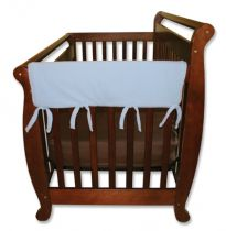 Blue Fleece CribWrap? Wide Rail Cover For Crib Sides