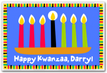 Personalized Placemat Kwanzaa