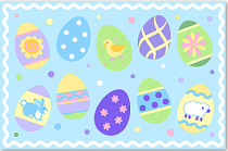 Placemat Easter Eggs (boys)