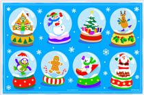 Placemat Snow Globe