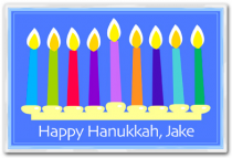 Personalized Placemat Hanukkah