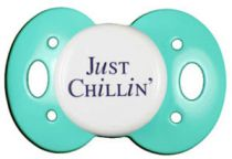 """Just Chillin'"" Posh Pacifier Binkys With Sass"