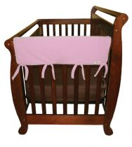 Pink Fleece CribWrap? Wide Rail Cover For Crib Sides