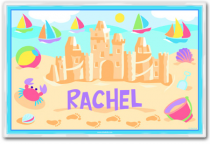 Personalized Placemat Summer Sandcastles