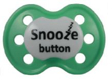 """Snooze Button"" Posh Pacifier --Binky's With Sass"
