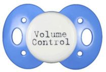 """Volume Control"" Posh Pacifier Binkys With Sass"