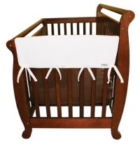 White Fleece CribWrap? Wide Rail Cover For Crib Sides