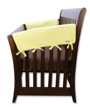 Yellow Fleece CribWrap? Wide Rail Cover For Crib Sides