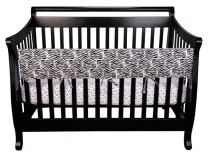 Black and White Zebra CribWrap? Wide Rail Cover For Crib Front/Back
