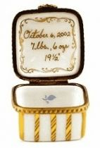 Blue and Gold 24 Carat Personalized Limoges