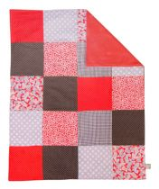 Chocolate Kiss Multi-Patched Receiving Blanket