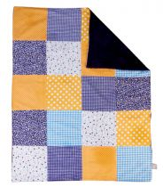 Dreamsicle Multi-Patched Receiving Blanket