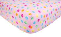 Gumdrop Dot Print Flannel Crib Sheet