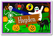 Personalized Placemat Halloween