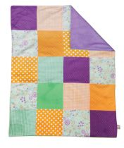 Jelly Bean Multi-Patched Receiving Blanket