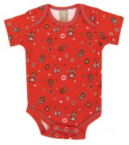 Chocolate Kiss Bear Scatter Print Bodysuit