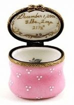 Pink 24 Carat Personalized Limoges