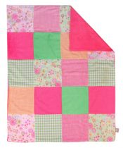 Sherbet Multi-Patched Receiving Blanket