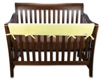 Yellow Fleece CribWrap? Wide Rail Cover For Crib Front/Back