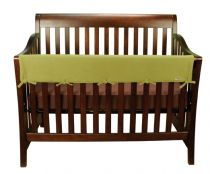 Avocado Fleece CribWrap® Wide Rail Cover For Crib Front/Back